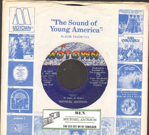 Jackson, Michael - Ben/You Can Cry On My Shoulder (with juke box label and company sleeve) - EX8/ - 45 rpm Records