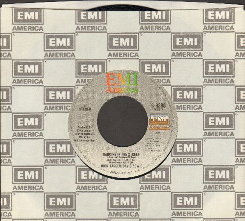 Jagger, Mick & David Bowie - Dancing In The Street (2 different versions) (with EMI company sleeve) - NM9/ - 45 rpm Records