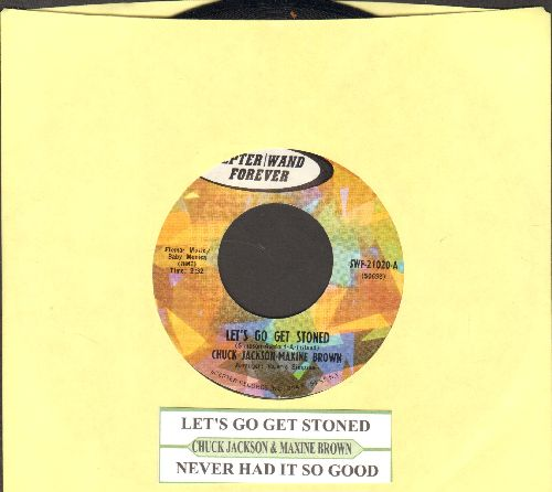 Jackson, Chuck & Maxine Brown - Let's Go Get Stoned/Never Had It So Good (with juke box label) - NM9/ - 45 rpm Records