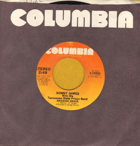 James, Sonny - Amazing Grace/In The Jailhouse Now (with Columbia company sleeve) - EX8/ - 45 rpm Records