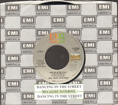 Jagger, Mick & David Bowie - Dancing In The Street (2 different versions) (with juke box label and EMI company sleeve) - EX8/ - 45 rpm Records