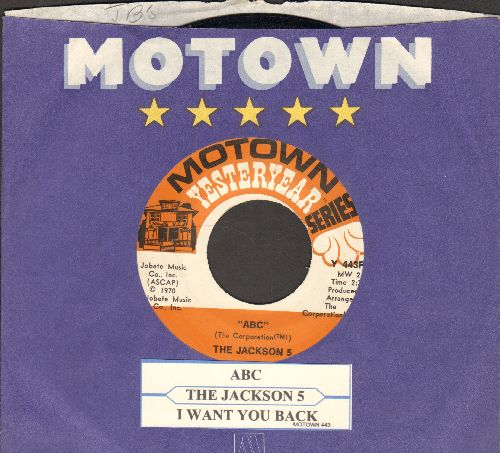 Jackson 5 - ABC/I want You back (double-hit re-issue with juke box label and Motown company sleeve) - NM9/ - 45 rpm Records