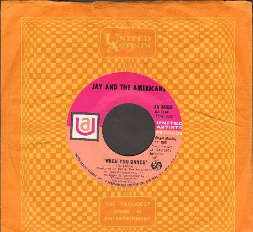 Jay & The Americans - When You Dance/No, I Don't Know Her (with UA company sleeve) - NM9/ - 45 rpm Records
