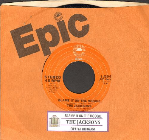 Jacksons - Blame It On The Boogie/Do What You Wanna (with juke box label and Epic company sleeve) - NM9/ - 45 rpm Records