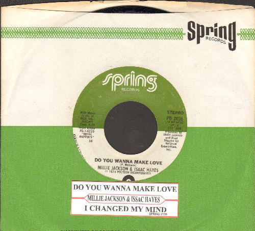 Jackson, Millie & Isaac Hayes - Do You Wanna Make Love/I Changed My Mind (with juke box lbel and company sleeve) - EX8/ - 45 rpm Records