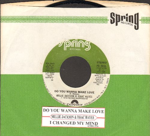 Jackson, Millie - Do You Wanna Make Love/I Changed My Mind (with juke box label and RARE Spring company sleeve) - EX8/ - 45 rpm Records