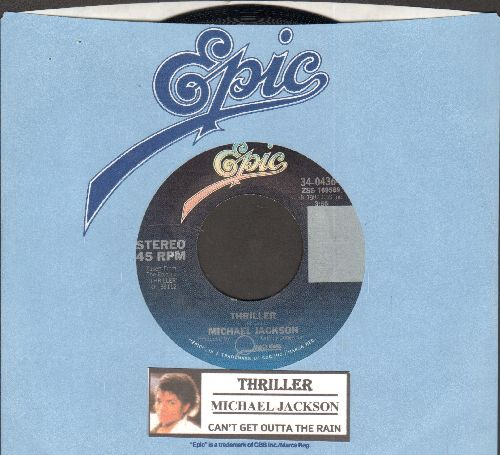 Jackson, Michael - Thriller/Can't Get Outta The Rain (MINT condition with juke box label and company sleeve) - M10/ - 45 rpm Records