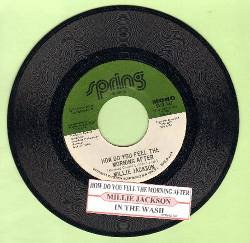 Jackson, Millie - How Do You Feel The Morning After/In The Wash (with juke box label) - NM9/ - 45 rpm Records