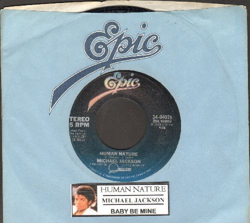 Jackson, Michael - Human Nature/Baby Be Mine (with juke box label and Epic company sleeve)) - NM9/ - 45 rpm Records
