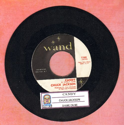 Jackson, Chuck - Candy/Shame On Me (with juke box label) - EX8/ - 45 rpm Records