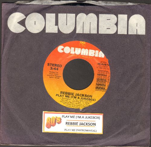 Jackson, Rebbie - Play Me (I'm A Juke Box)/Play Me (Instreumental) (with juke box label and Columbia company sleeve) - NM9/ - 45 rpm Records