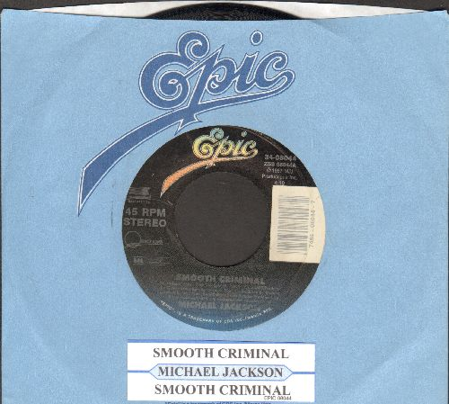 Jackson, Michael - Smooth CriminalSmooth Criminal (Instrumental) (with juke box label and Epic company sleeve) - VG7/ - 45 rpm Records