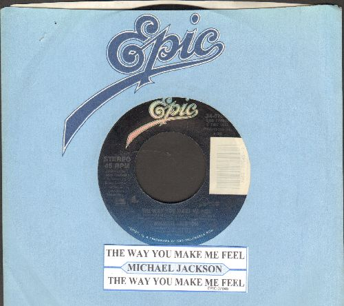 Jackson, Michael - The Way You Make Me Feel/The Way You Make Me Feel (Instrumental) (with juke box label and Epic company sleeve) - EX8/ - 45 rpm Records