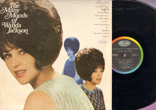 Jackson, Wanda - The Many Moods Of Wanda Jackson: Walk Right In, I'm A Believer, Fever, If I Had A Hammer, Big Daddy (Vinyl STEREO LP record, FREE wholes stamped in upper right corner) - NM9/EX8 - LP Records