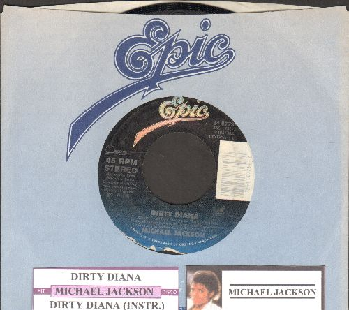 Jackson, Michael - Dirty Diana/Dirty Diana (Instrumental) (with juke box label and Epic company sleeve) - NM9/ - 45 rpm Records