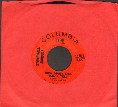 Jackson, Stonewall - How Many Lies Can I Tell/NeverMore Quote The Raven - NM9/ - 45 rpm Records