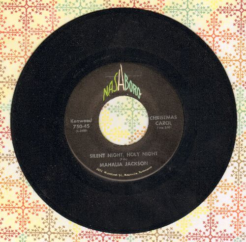 Jackson, Mahalia - Silent Night, Holy Night/Lord's Prayer - NM9/ - 45 rpm Records