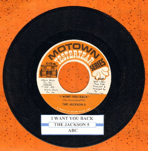 Jackson 5 - I Want You Back/ABC (double-hit re-issue with juke box label) - NM9/ - 45 rpm Records