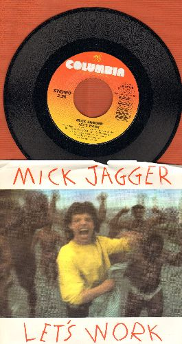 Jagger, Mick - Let's Work/Catch As Catch can (with picture sleeve) - NM9/EX8 - 45 rpm Records