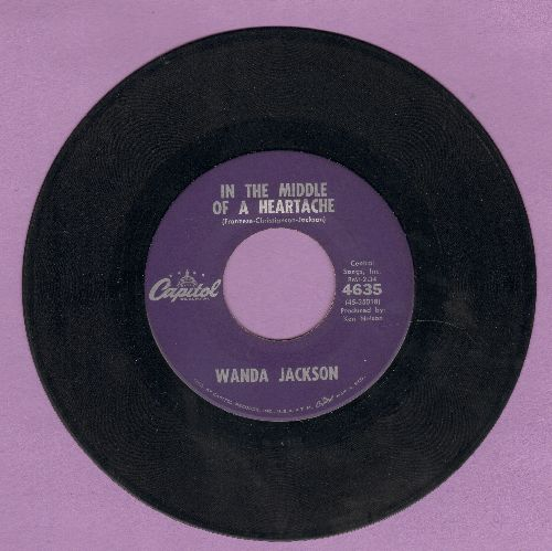 Jackson, Wanda - In The Middle Of A Heartache/I'd Be Ashamed (purple label early issue) - VG7/ - 45 rpm Records