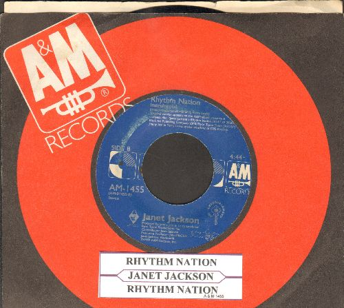 Jackson, Janet - Rhythm Nation/Rhythm Nation (Instrmental) (with A&M company sleeve and juke box label) - EX8/ - 45 rpm Records