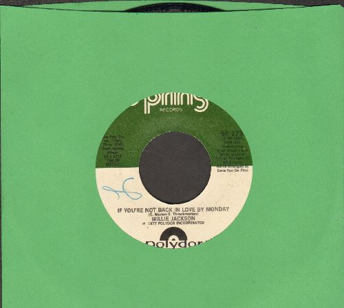 Jackson, Millie - If We're Not Back In Love Bt Monday/A Little Taste Of Outside Love - EX8/ - 45 rpm Records