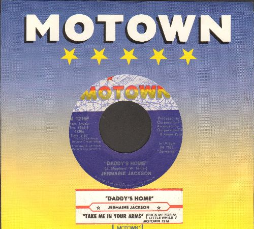Jackson, Jermaine - Daddy's Home/Take Me In Your Arms (with juke box label and Motown company sleeve) - NM9/ - 45 rpm Records
