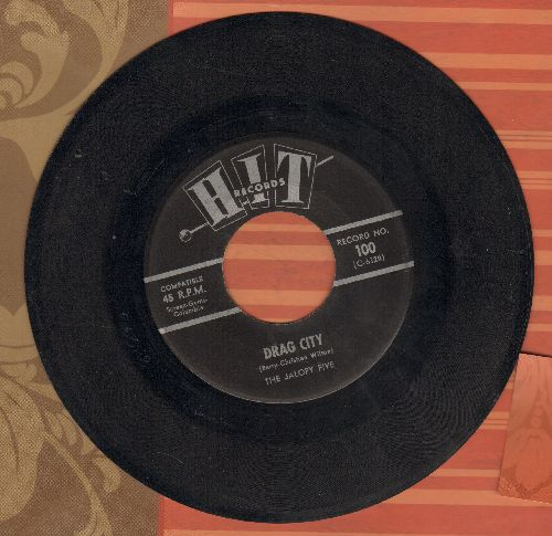 Jalopy Five - Drag City/Forget Him (by Wayne Harris on flip-sidue) (contemporary cover versions) - EX8/ - 45 rpm Records