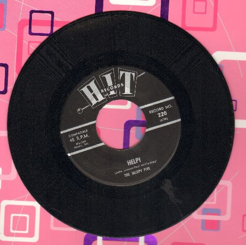 Jalopy Five - Help!/California Girls (by The Chellows on flip-side) (contemporary cover versions) - NM9/ - 45 rpm Records