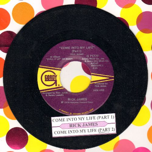 James, Rick - Come Into My Life (Parts 1 + 2) - NM9/ - 45 rpm Records