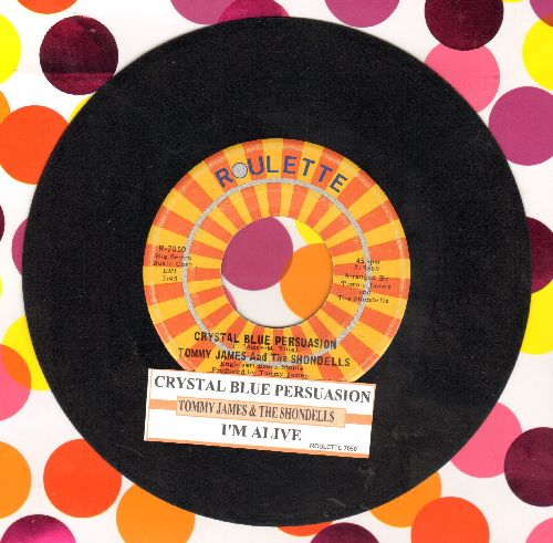 James, Tommy & The Shondells - Crystal Blue Persuasion/I'm Alive (with juke box label) - VG7/ - 45 rpm Records