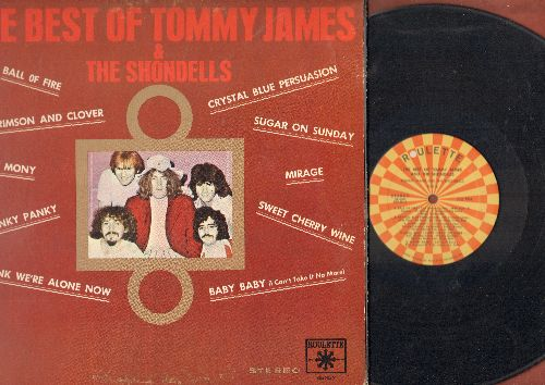 James, Tommy & The Shomdells - The Best Of: Crimson And Clover, Mony Mony, Hanky Panky, Crystal Blue Persuasion, Mirage (vinyl STEREO LP record, gate-fold cover) - VG7/VG7 - LP Records