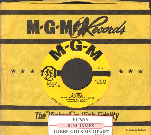 James, Joni - Funny/There Goes My Heart (yellow label first issue withjuke box label vintage MGM company sleeve) - EX8/ - 45 rpm Records