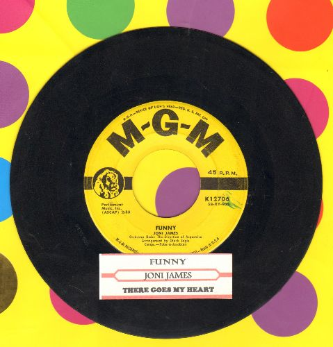 James, Joni - Funny/There Goes My Heart (yellow label first issue with juke box label) - VG7/ - 45 rpm Records