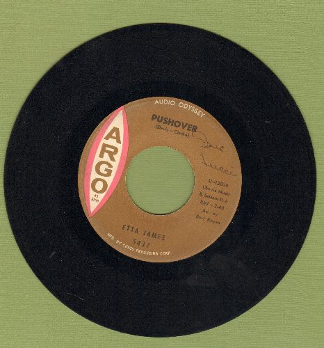 James, Etta - Pushover/I Can't Hold It In Any More - EX8/ - 45 rpm Records