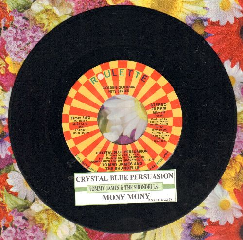 James, Tommy & The Shondells - Crystal Blue Persuasion/Mony Mony (double-hit re-issue with juke box label) - EX8/ - 45 rpm Records