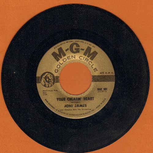 James, Joni - Your Cheatin' Heart/Why Don't You Believe Me (early authentic-looking double-hit re-issue) - NM9/ - 45 rpm Records