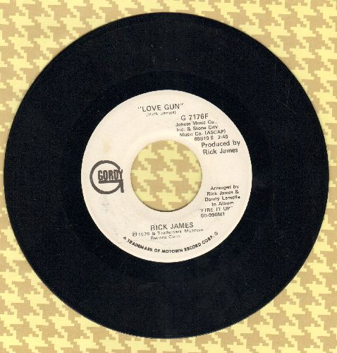 James, Rick - Love Gun (double-A-sided DJ advance pressing) - NM9/ - 45 rpm Records