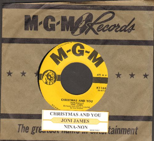 James, Joni - Christmas And You/Nina-Non (with juke box label and MGM company sleeve) - NM9/ - 45 rpm Records