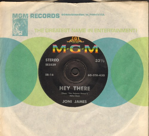 James, Joni - Hey There/Til There Was You (RARE 7 inch 33rpm STEREO record with MGM company sleeve, small spindle hole) - EX8/ - 45 rpm Records