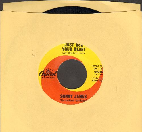 James, Sonny - Just Ask Your Heart/True Love's A Blessing  - EX8/ - 45 rpm Records