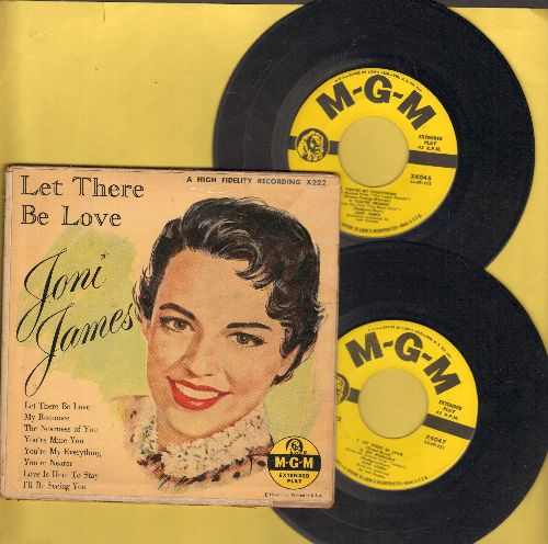 James, Joni - Let There Be Love/Love Is Here To Stay/The Nearness Of You/You're Nearer + 4 (2 Vinyl EP records in gate-fold cover!) - EX8/VG7 - 45 rpm Records
