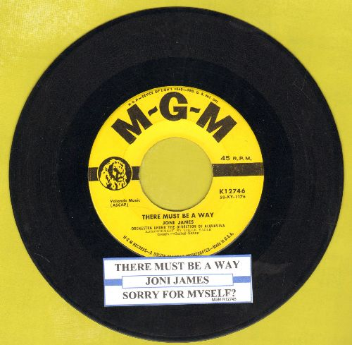 James, Joni - There Must Be A Way/Sorry For Myself? (with juke box label) - EX8/ - 45 rpm Records