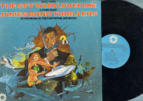 Film Festival Orchestra - The Spy Who Loved Me & Other Great James Bond Thrillers (vinyl STEREO LP record) - NM9/VG7 - LP Records