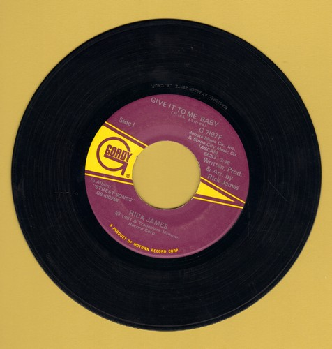 James, Rick - Give It To Me Baby/Don't Give Up On Love - VG7/ - 45 rpm Records