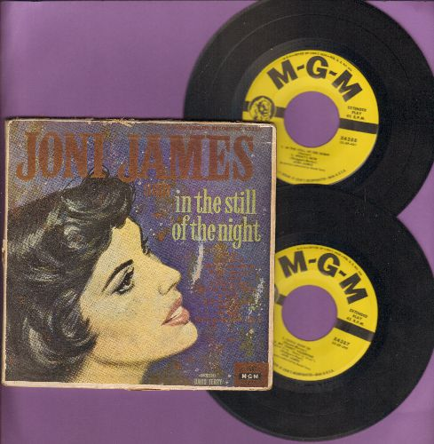 James, Joni - In The Still Of The Night: What's New/Deep Purple/My Funny Valentine/Fools Rush In + 4 (2 vinyl 45rpm EP records in gate-fold picture cover) - VG7/VG6 - 45 rpm Records