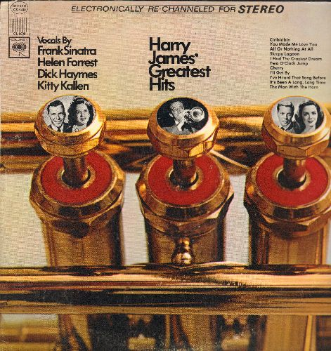 James, Harry - Harry James' Greatest Hits, vocals by Frank Sinatra, Helen Forrest, Dick Haymes and Kitty Kallen (vinyl STEREO LP record) - NM9/EX8 - LP Records