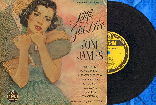 James, Joni - Little Girl Blue: I'm Thru With Love/Autumn Leaves/These Foolish Things + 4 (10 inch LP with picture cover, 1956 first pressing) - VG7/VG6 - LP Records