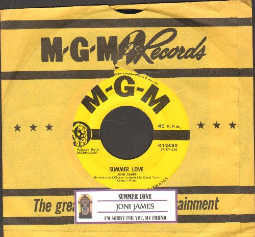 James, Joni - Summer Love/I'm Sorry For You, My Friend (with juke box label and vintage MGM company sleeve) - EX8/ - LP Records