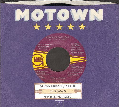 James, Rick - Super Freak (Parts 1 + 2) (with juke box label and Motown company sleeve) - EX8/ - 45 rpm Records